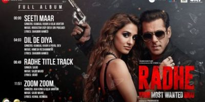Checkout the title track of Radhe : Your Most Wanted bhai movie and it is sung by Sajid